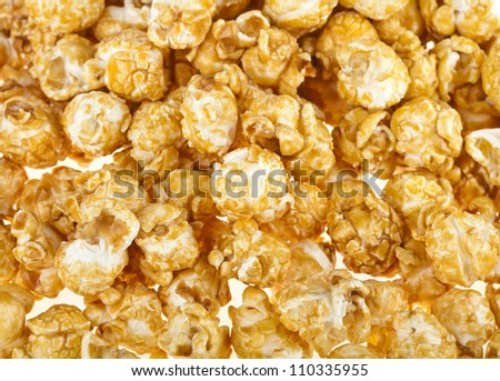 pop corn in caramel syrup , background - stock photo