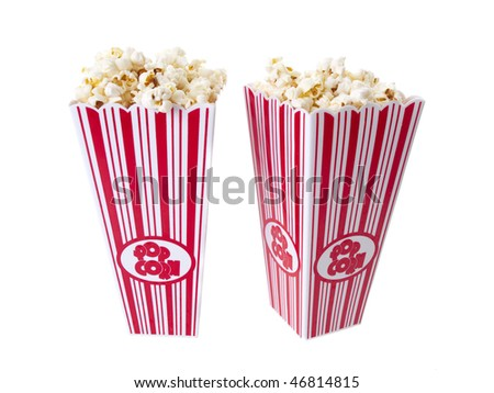 Pop Corn isolated on white background