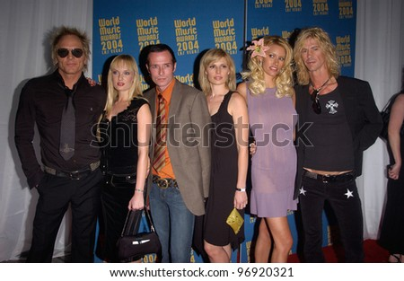 Pop group VELVET REVOLVER & wives at the 16th Annual World Music Awards at the Thomas and Mack Centre, Las Vegas. September15, 2004