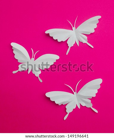 Pop up greeting card with flower and  butterfly  - stock photo