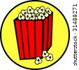 popcorn bag - stock vector