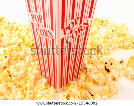 Popcorn bucket  movie style snack - stock photo