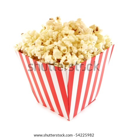 Popcorn cardboard box for cinema - stock photo