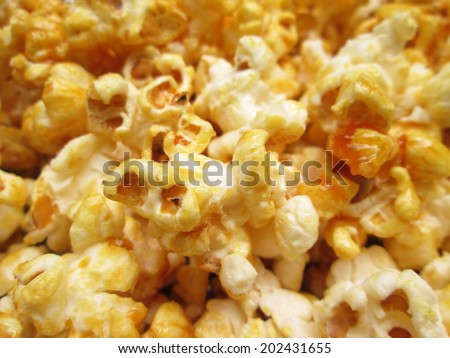 Popcorn Close Up - stock photo