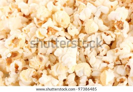 Popcorn closeup - stock photo