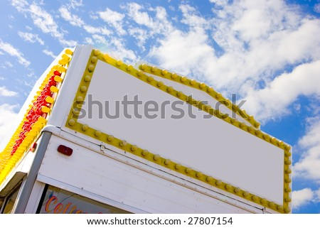 Popcorn concession stand at street festival. - stock photo