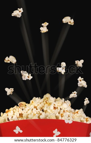 Popcorn Flying High. - stock photo