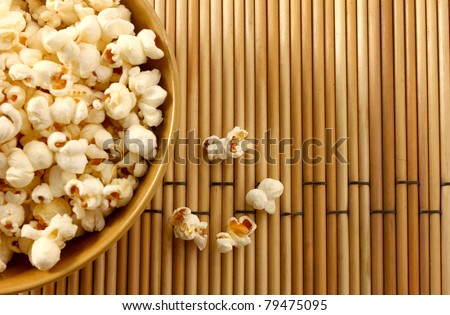 popcorn in a bowl - stock photo