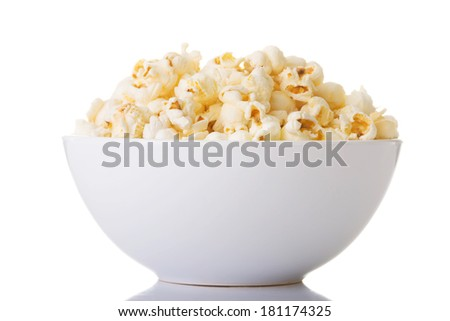 Popcorn in bowl  - stock photo