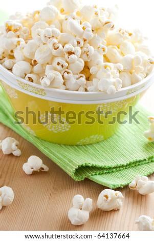 popcorn in bowl - stock photo