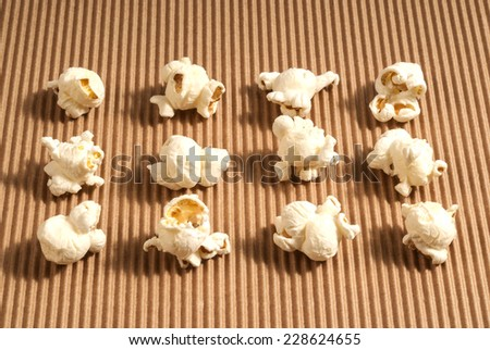 Popcorn isolated  - stock photo