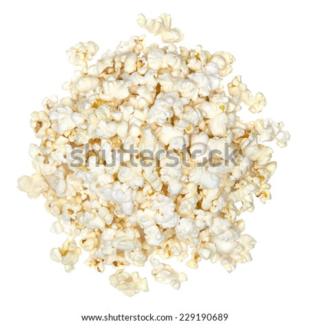 Popcorn isolated on the white background including clipping path  - stock photo