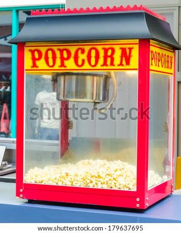 popcorn machine - stock photo