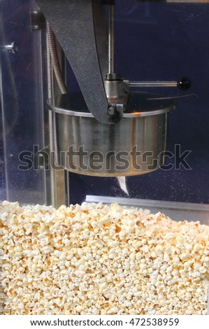 Popcorn machine at the entrance of a cinema