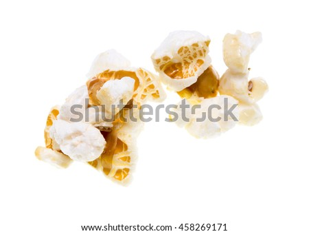 popcorn on a white background