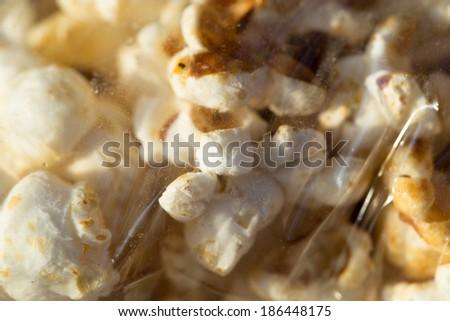popcorn package. macro - stock photo