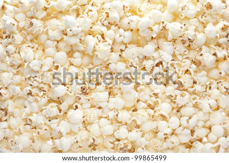 Popcorn texture background - stock photo