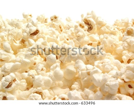 Popcorn With White Background