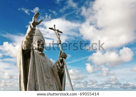 Pope John Paul II - stock photo