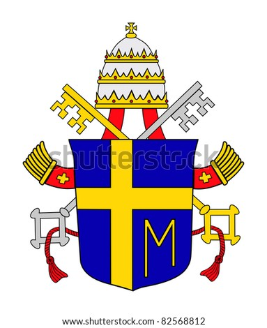 Pope John Paul Second Ii Coat Stock Illustration 82568812 Shutterstock