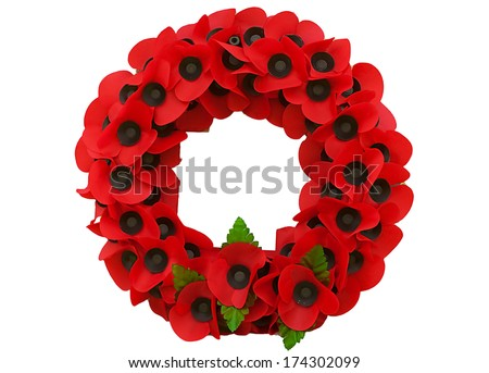 Poppy day great remembrance war world flanders  - stock photo