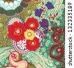 Poppy flower design - stock photo