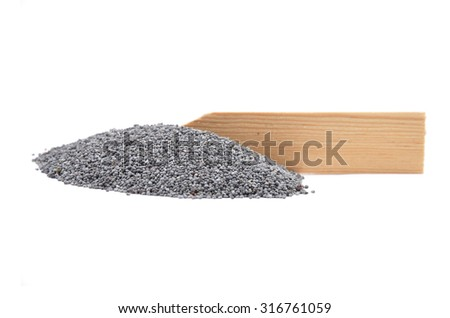 Poppy seeds at plate - stock photo