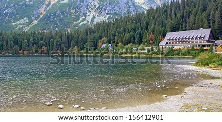 Popradske pleso - tarn in High Tatras mountains, Slovakia