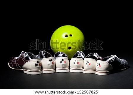 popular bowling game - stock photo