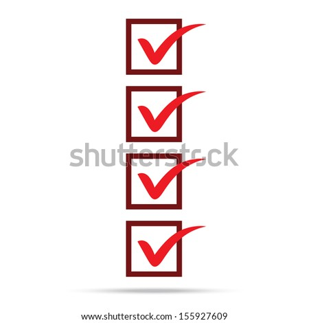 popular check list symbol right mark isolated - stock photo
