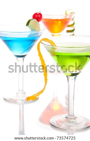 Dmitry lobanov 39 s cocktails set on shutterstock for Light cocktails with vodka