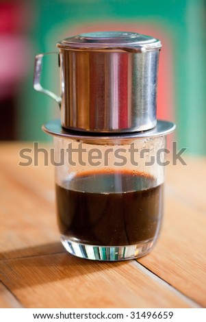 Popular Vietnamese drip coffee - stock photo