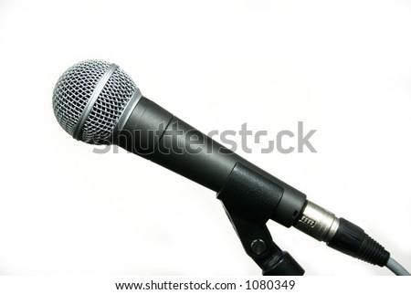 Popular vocalist mic on stand - stock photo