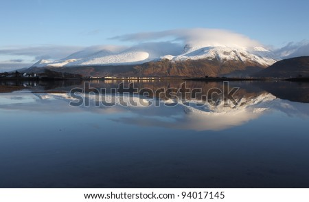 Popular winter resort in the Scottish Highlands that includes Ben Nevis,highest mountain in the UK.