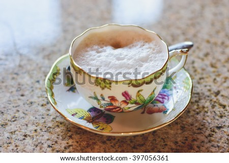 Porcelain coffee cup. - stock photo