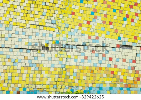 Porcelain pieces mosaic background