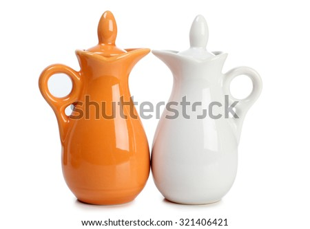 Porcelain spice on a white background - stock photo