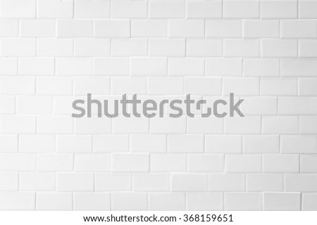 Porcelain tile texture pattern detail wall background white grey color tone: Grunge vintage antique old style ceramic polished brickwork tiled textured detailed patterned finishing material backdrop - stock photo