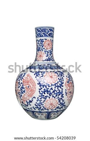 porcelain vase - stock photo