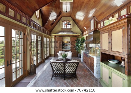 Porch with stone grill and doors to patio & Door Grill Stock Images Royalty-Free Images \u0026 Vectors | Shutterstock Pezcame.Com
