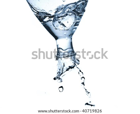 poring water - stock photo