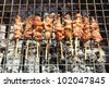 Pork Barbecue in street food, Thailand - stock photo