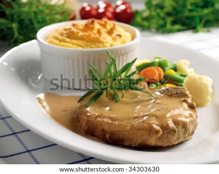 Pork chop - stock photo