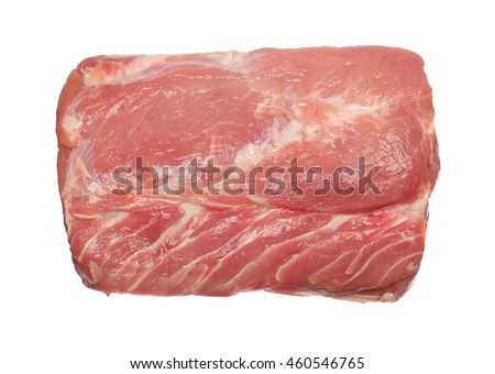 Pork chop isolated on a white background