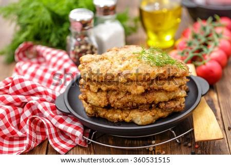 pork chops - stock photo