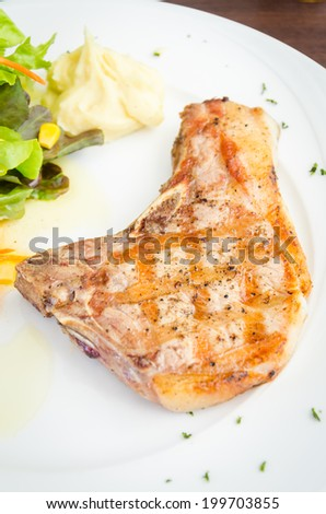 Pork chops steak
