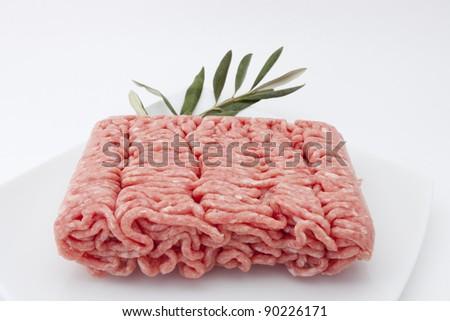 Pork cooking raw ground - stock photo