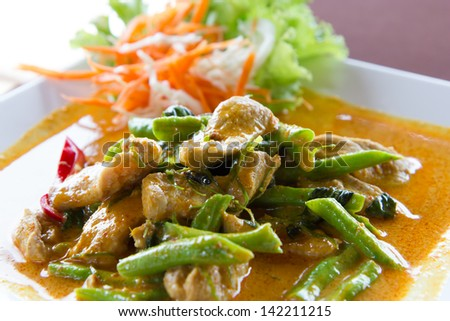 Pork curry, delicious and famous Thailand food