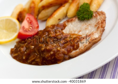 pork cutlet with dumplings,