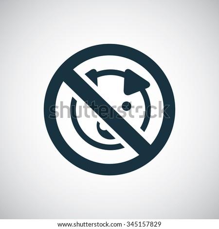 pork forbidden icon, on white background - stock photo